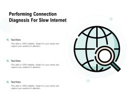 Performing Connection Diagnosis For Slow Internet