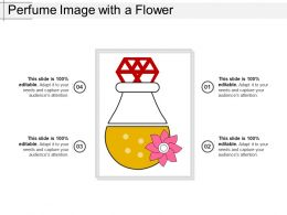 Perfume Image With A Flower