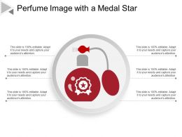 Perfume Image With A Medal Star