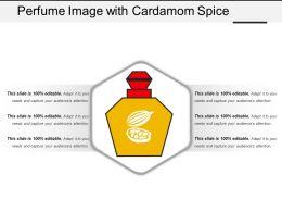 Perfume Image With Cardamom Spice