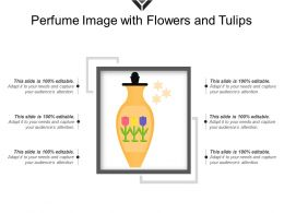 Perfume Image With Flowers And Tulips