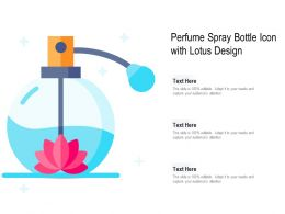 Perfume Spray Bottle Icon With Lotus Design