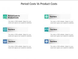 Period Costs Vs Product Costs Ppt Powerpoint Presentation File Clipart Images Cpb