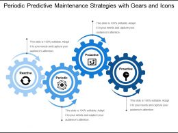 Periodic Predictive Maintenance Strategies With Gears And Icons