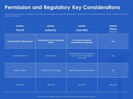 Permission And Regulatory Key Considerations License Ppt Powerpoint Background Images
