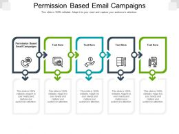 Permission Based Email Campaigns Ppt Powerpoint Presentation Infographics Summary Cpb