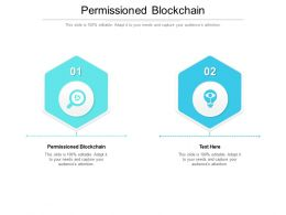 Permissioned Blockchain Ppt Powerpoint Presentation Show Files Cpb