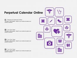 Perpetual Calendar Online Ppt Powerpoint Presentation Infographics Background Image