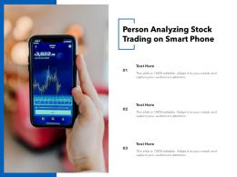 Person Analyzing Stock Trading On Smart Phone