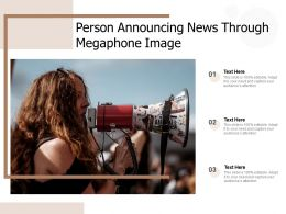 Person Announcing News Through Megaphone Image