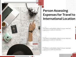 Person Assessing Expenses For Travel To International Location
