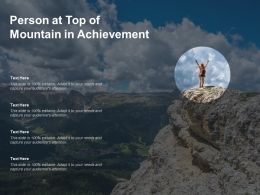 Person At Top Of Mountain In Achievement