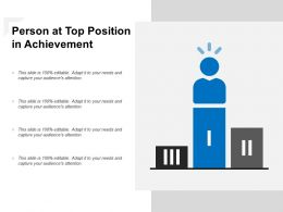 Person At Top Position In Achievement