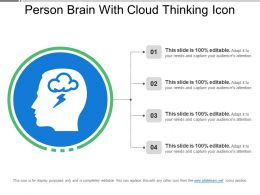 Person Brain With Cloud Thinking Icon