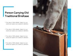 Person Carrying Old Traditional Briefcase