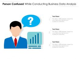 Person Confused While Conducting Business Data Analysis
