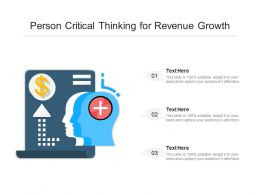 Person Critical Thinking For Revenue Growth