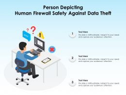 Person Depicting Human Firewall Safety Against Data Theft