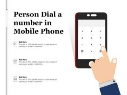 Person Dial A Number In Mobile Phone