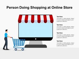 Person Doing Shopping At Online Store