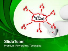Person Drawing Social Networking Diagram Process Powerpoint Templates Ppt Themes And Graphics 0113