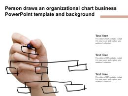 Person Draws An Organizational Chart Business Powerpoint Template And Background