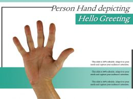 Person Hand Depicting Hello Greeting