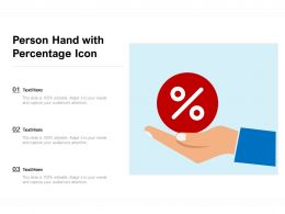 Person Hand With Percentage Icon