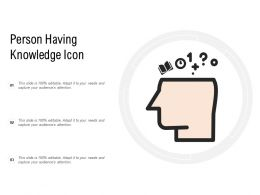 Person Having Knowledge Icon