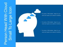 Person Head With Cloud Small To Large Icon