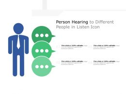 Person Hearing To Different People In Listen Icon