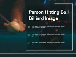 Person Hitting Ball Billiard Image