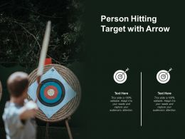 Person Hitting Target With Arrow