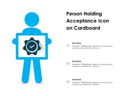 Person Holding Acceptance Icon On Cardboard