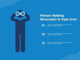 Person Holding Binoculars To Eyes Icon
