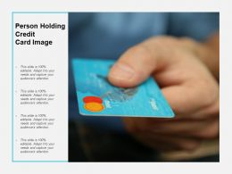 Person Holding Credit Card Image