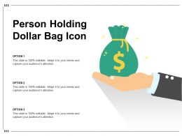 Person Holding Dollar Bag Icon