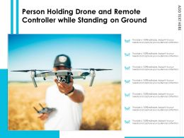 Person Holding Drone And Remote Controller While Standing On Ground