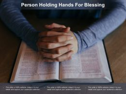 Person Holding Hands For Blessing