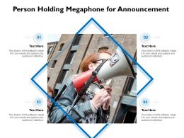 Person Holding Megaphone For Announcement
