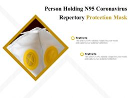Person Holding N95 Coronavirus Repertory Protection Mask