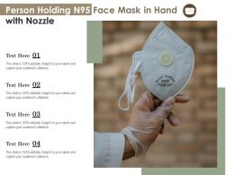 Person Holding N95 Face Mask In Hand With Nozzle
