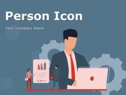 Person Icon Circular Magnifying Glass Symbol Arrows Speech