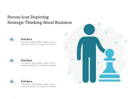 Person Icon Depicting Strategic Thinking About Business
