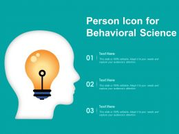 Person Icon For Behavioral Science