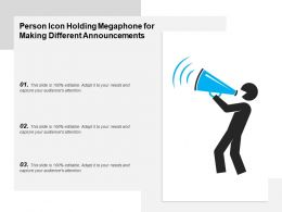 Person Icon Holding Megaphone For Making Different Announcements