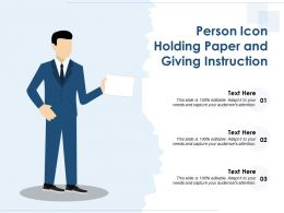 Person Icon Holding Paper And Giving Instruction