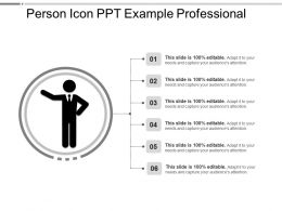 Person Icon Ppt Example Professional