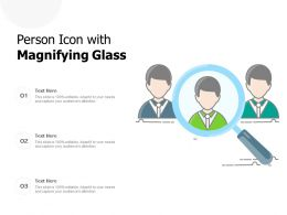 Person Icon With Magnifying Glass