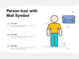 Person Icon With Mail Symbol